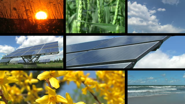 Sonnenkollektor-Montage
