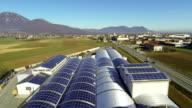 Pannelli solari sul tetto-veduta aerea
