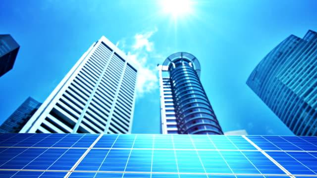 Solarzellen in der Stadt