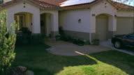 CS, MS, HA, Solar panels on roof of suburban home, Escondido, California, USA