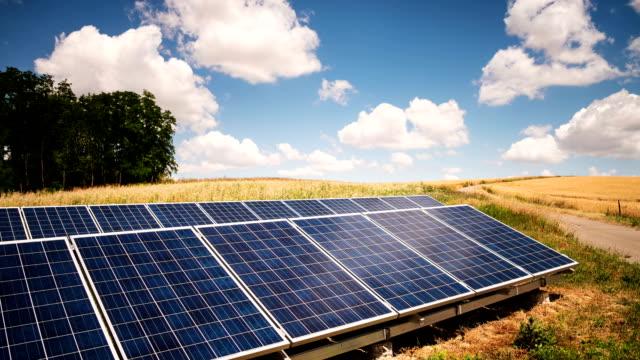 Solarkollektoren Zeitraffer