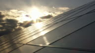 Solar Park Against Moody Sky Time Lapse