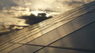 Solar Park at Sunset Time Lapse
