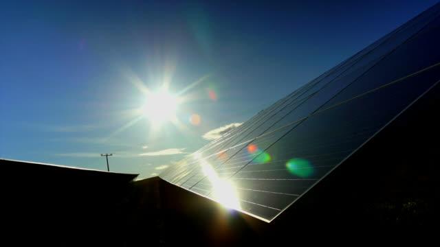 Solar Park am Abend Sonne Zeitraffer (4:2: 2)