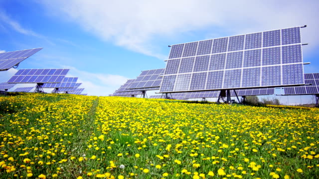 GIMBAL Solar Power Plant In Spring (4K/UHD to HD)