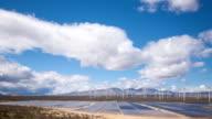 Impianto di energia solare nel deserto.