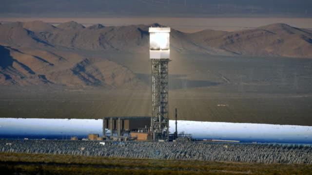 Solar Power Tower Time-lapse 4 K