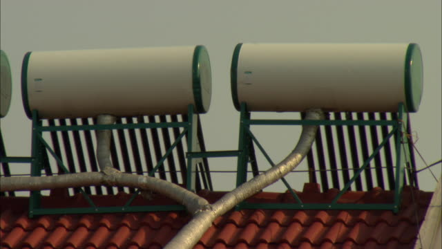 MS Solar water heaters on rooftop, Dezhou, Shandong, China