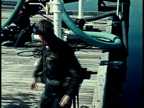 1976 MONTAGE soldier demonstrating water survival / United States