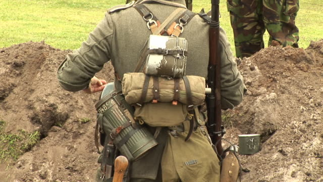 Soldier in trenches - HD & PAL
