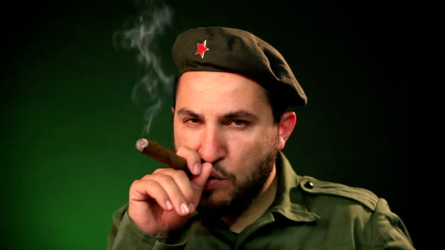 Soldier with a cigar