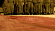 soldiers march