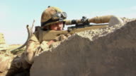 MS Soldiers positioning the rifle / Mausa Qala Helmand Province Afghanistan