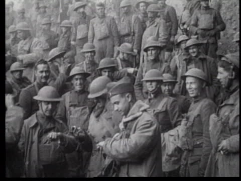 WWI Soldiers Sitting in Trenches