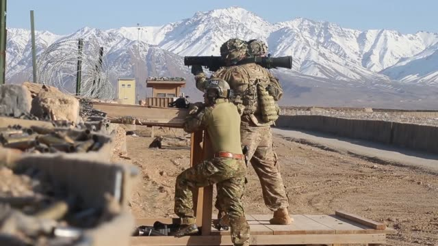 LS Soldiers with the US Army's 2nd Battalion 87th Infantry Regiment 3rd Brigade 10th Mountain Division test fire weapons on the range at Forward...