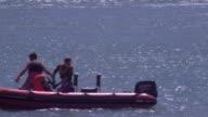 Sole survivor of fishing boat tragedy off coast of West Sussex speaks out 682017 Shoreham EXT Wide shot of off shore wind farm TILT DOWN rescue boat...