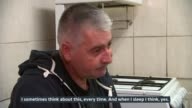 Sole survivor of fishing boat tragedy off coast of West Sussex speaks out London INT Elvis Cojocariu interview and setup shots with reporter SOT...