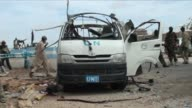 Somalia's Shebab Islamists killed at least six UN workers on Monday when they exploded a huge bomb in a staff bus in the northeastern town of Garowe