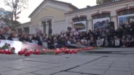 Some 100 people staged a rally in Istanbul on Friday in remembrance of Armenian victims massacred by Ottoman forces in 1915