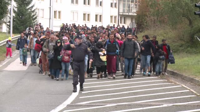 Some 150 migrants entered Austria from across the Slovenian border on Saturday opening up a new route for the thousands seeking to cross the Balkans...
