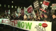 Some 150 people protest in London against the governments austerity measures