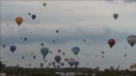 Some 250 hot air balloons launch into the skies at the former Chambley Bussieres air base near Metz opening the 15th edition of the Mondial Air...