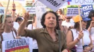 Some 300 people gather in Madrid's Plaza de Colon to demonstrate against the constituent assembly being elected Sunday in Venezuela