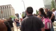 Some of the better clips of action during the anarchist march around downtown Cleveland Broll footage of anarchist protesters and also footage of a...
