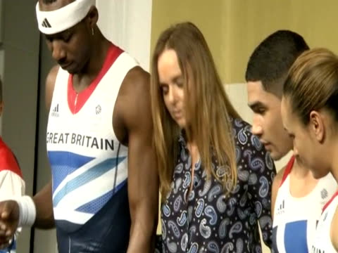 Some of the UK's top athletes model the new Olympic kit designed by Stella McCartney