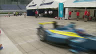 Some of the world's fastest electric cars will do battle on the streets of Beijing today in the first of a world series of races 20 Formula E cars...