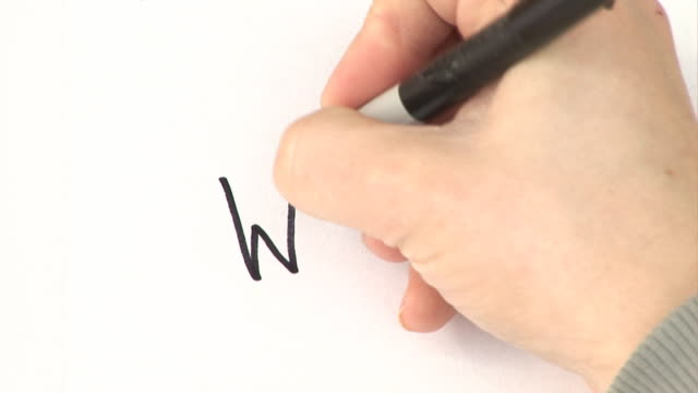 Somebody Handwriting 'Why?' HD