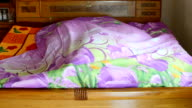 Someone Rolling inside bed sheet, Client Needs - CNGLLEI1099