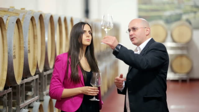 Sommelier explaining wine tasting