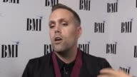 Songwriters collecting prizes at the BMI pop awards speak of the influence icon honouree Barry Manilow had on them Justin Tranter speaks of the...