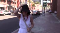 SoonYi Previn waking down Bedford Ave in Beverly Hills Celebrity Sightings in Los Angeles CA on
