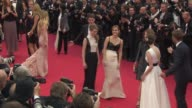 Sophia Coppola Israel Broussard Emma Watson Katie Chang Taissa Fariga and Claire Julien at 'The Bling Ring' Red Carpet at Palais des Festivals on May...