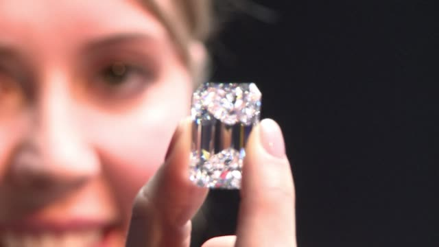 Sothebys unveiled an incredibly rare 100 Carat perfect diamond in London on Friday expected to fetch up to 25 million dollars at auction in April