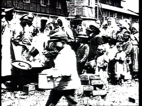 WWI Soup kitchen for civilians and refugees