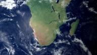 Sudafrica visualizzato dopo terra zoom (con di metallina di alfa)