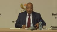 South Africa president Jacob Zuma meets with leaders representing foreign nationals from within Africa Pakistan and Bangladesh to discuss recent...