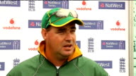 training and interviews Arthur interview SOT These One Day games very important for South Africa/Tour has been successful because priority was to win...