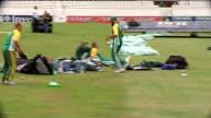 training and interviews Closeup of Amla Amla in fielding practice Closeup of Smith South African cricketers training on pitch including Kallis Amla...
