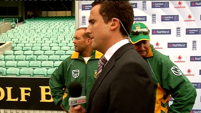 training and interviews ENGLAND London The Oval EXT Jacques Kallis and Mickey Arthur interview setups Arthur interview SOT Talks about Graeme Smith's...