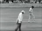 3rd test match 5th day Match drawn SOUTH AFRICA Durban EXT Doug Insole batting for England v South Africa on the 5th day of the 3rd test match /...