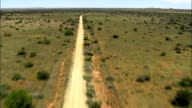 South Africa-Low Over Dirt Road  - Aerial View - Northern Cape,  Frances Baard District Municipality,  Sol Plaatjie,  South Africa