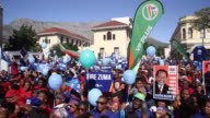 South African opposition parties unite in a protest march through Cape Town demanding President Jacob Zuma be recalled just hours before a motion of...