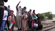 South Africans take part in a solidarity march for the Palestinian people and demand justice and freedom for Palestine on September 24 2017 in...