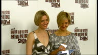 Celebrity arrivals Anne Marie Duff posing with unidentified woman for press and interview SOT