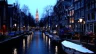 HD: South Church Zuiderkerk Amsterdam at dusk