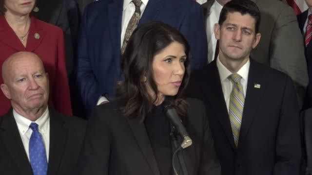 South Dakota Congresswoman Kristi Noem says at a news conference after initial passage of the Tax Cuts and Jobs Act that she was 24 years old when...